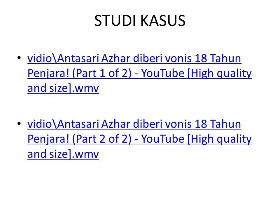 STUDI KASUS vidio\Antasari Azhar diberi vonis 18 Tahun Penjara! (Part 1 of 2) - YouTube [High quality and size].wmv.